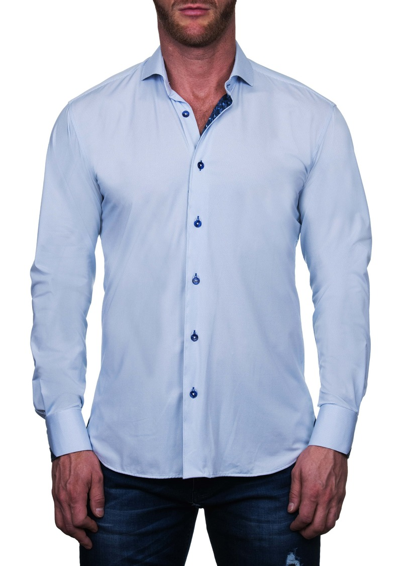 Maceoo Einstein Regular Fit Perforated Button-Up Shirt