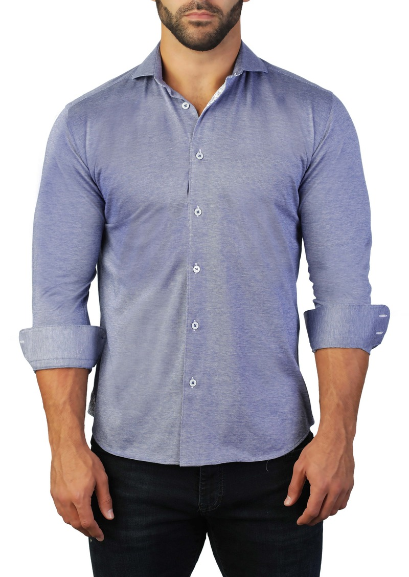 Maceoo Einstein Regular Fit Solid Button-Up Shirt