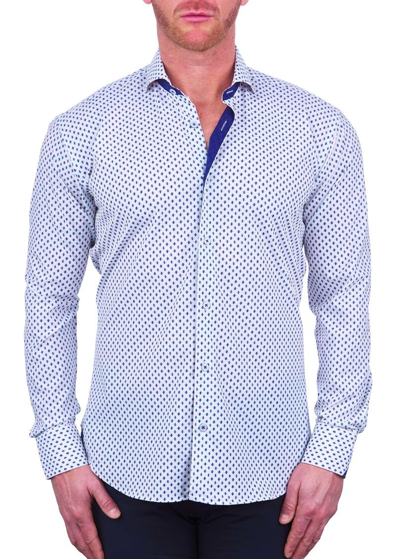 Maceoo Einstein Regular Fit Stretch Button-Up Shirt