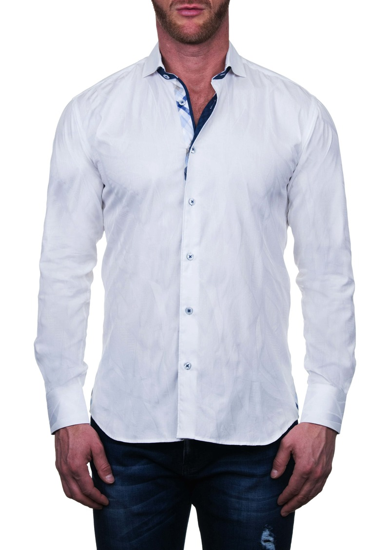 Maceoo Einstein Regular Fit Wave Button-Up Shirt