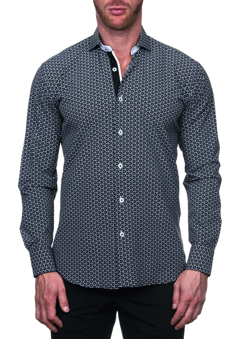 Maceoo Einstein Rush Black Regular Fit Button-Up Shirt