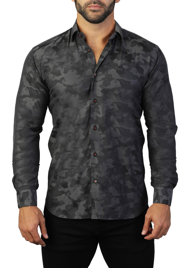 Maceoo Fibonacci Armee Regular Fit Shirt
