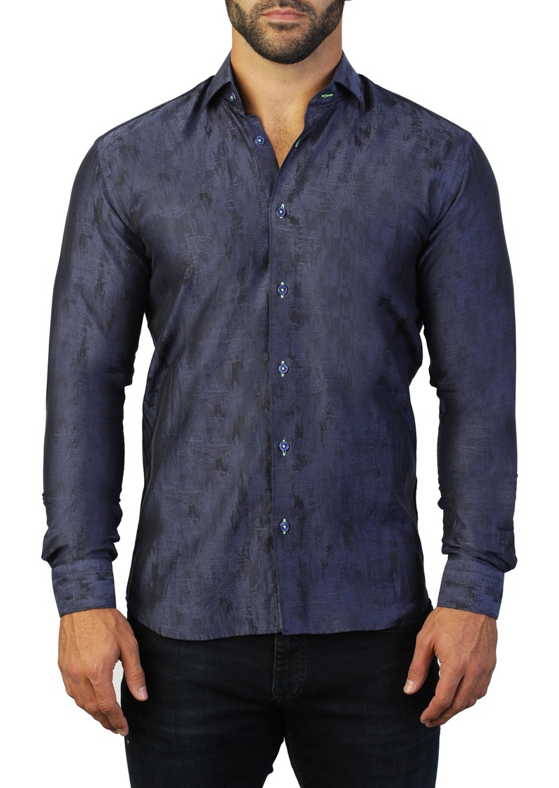 Maceoo Fibonacci Camo Regular Fit Cotton Shirt