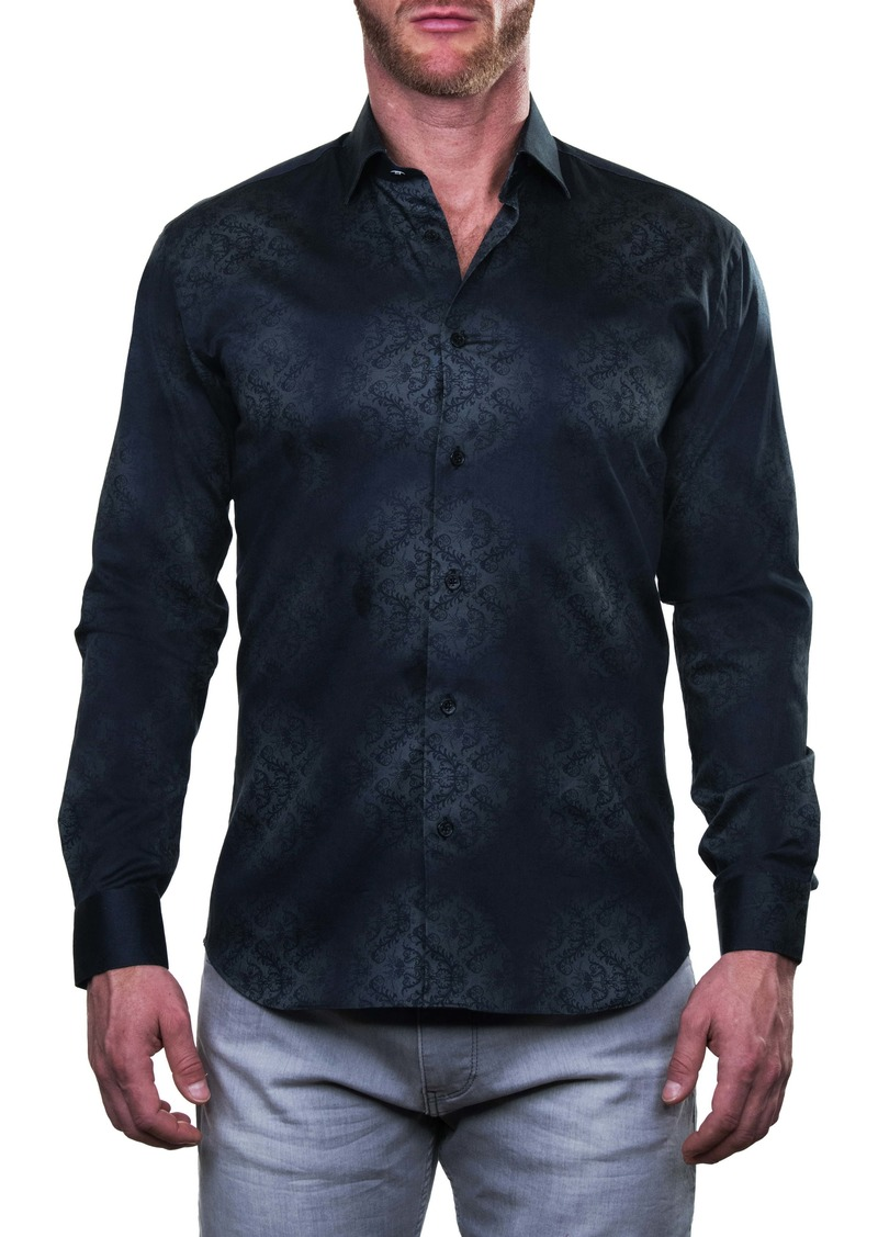Maceoo Fibonacci Chancelier Black Regular Fit Button-Up Shirt