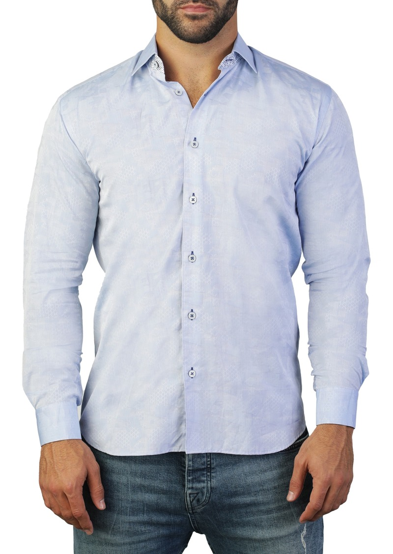 Maceoo Fibonacci Cone Regular Fit Cotton Shirt