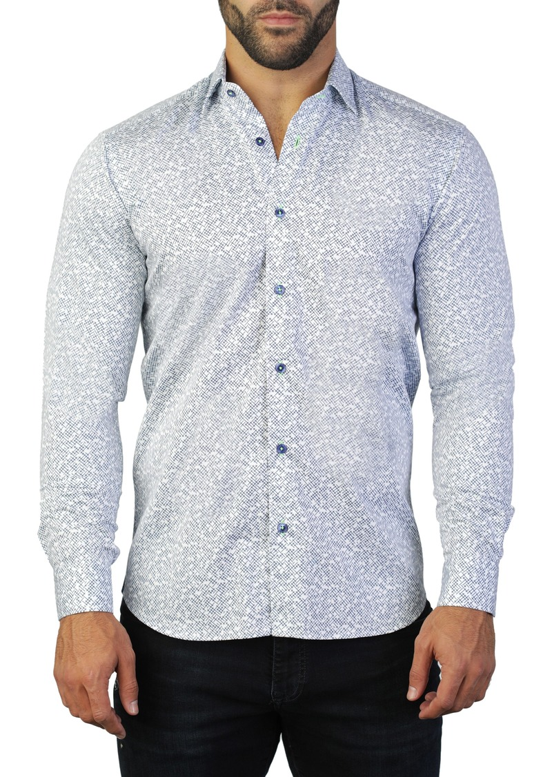 Maceoo Fibonacci Cross Regular Fit Shirt