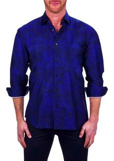 Maceoo Fibonacci Lionconnected Blue Button-Up Shirt