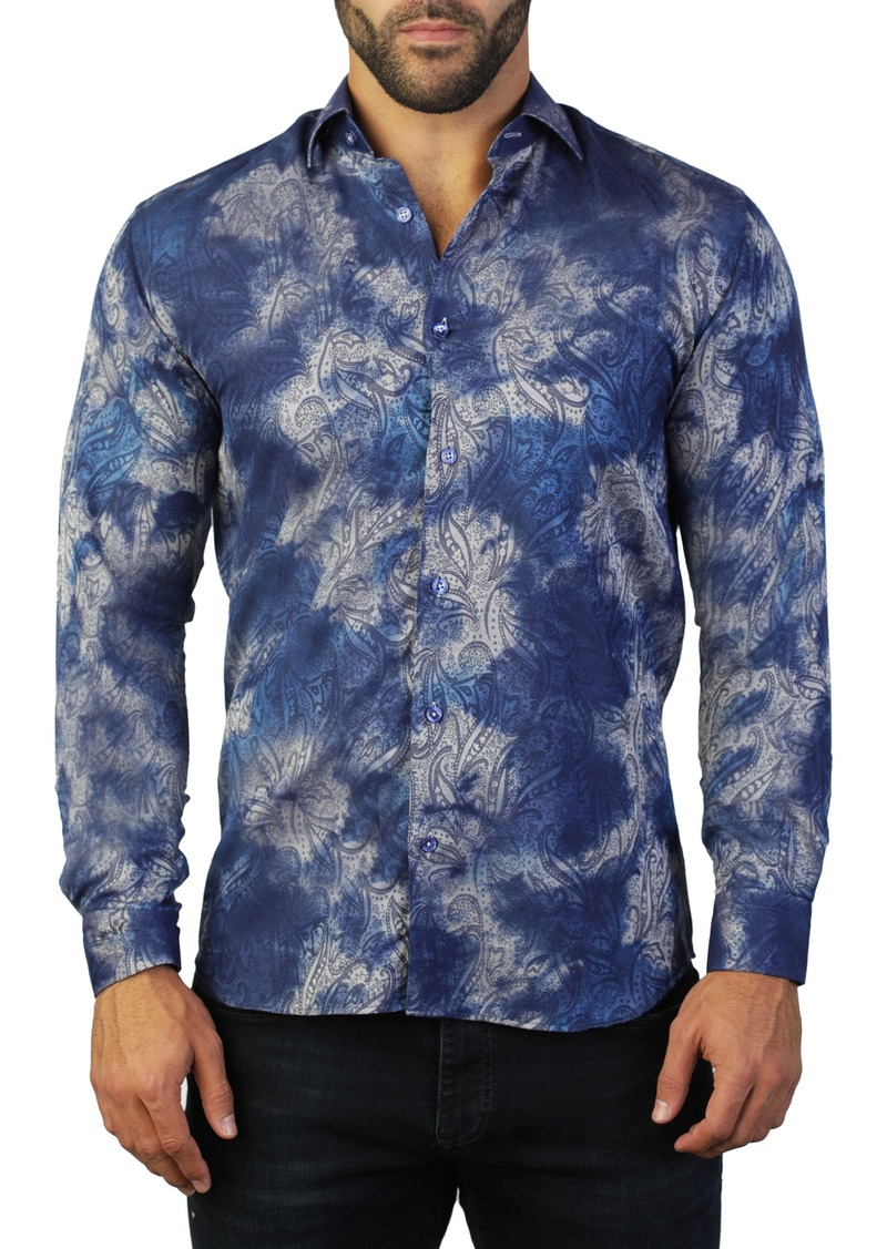 Maceoo Fibonacci Paisley Regular Fit Shirt