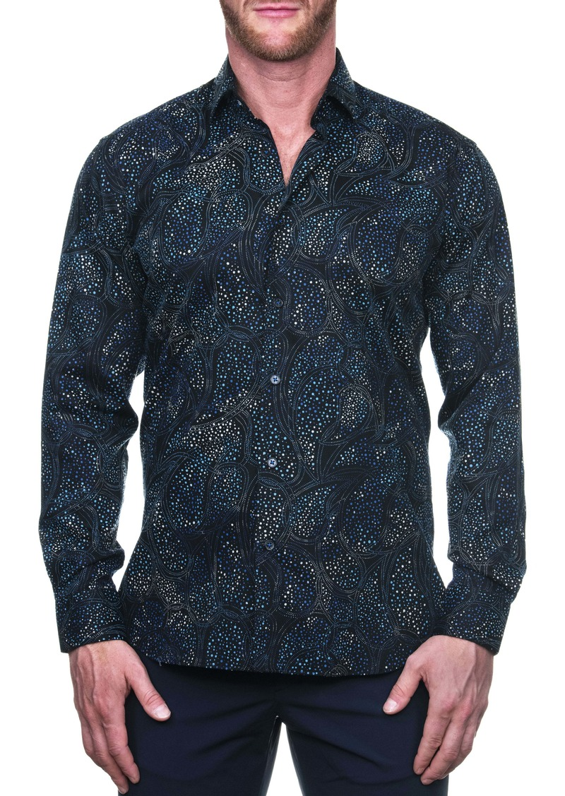Maceoo Fibonacci Paisleymono Regular Fit Button-Up Shirt