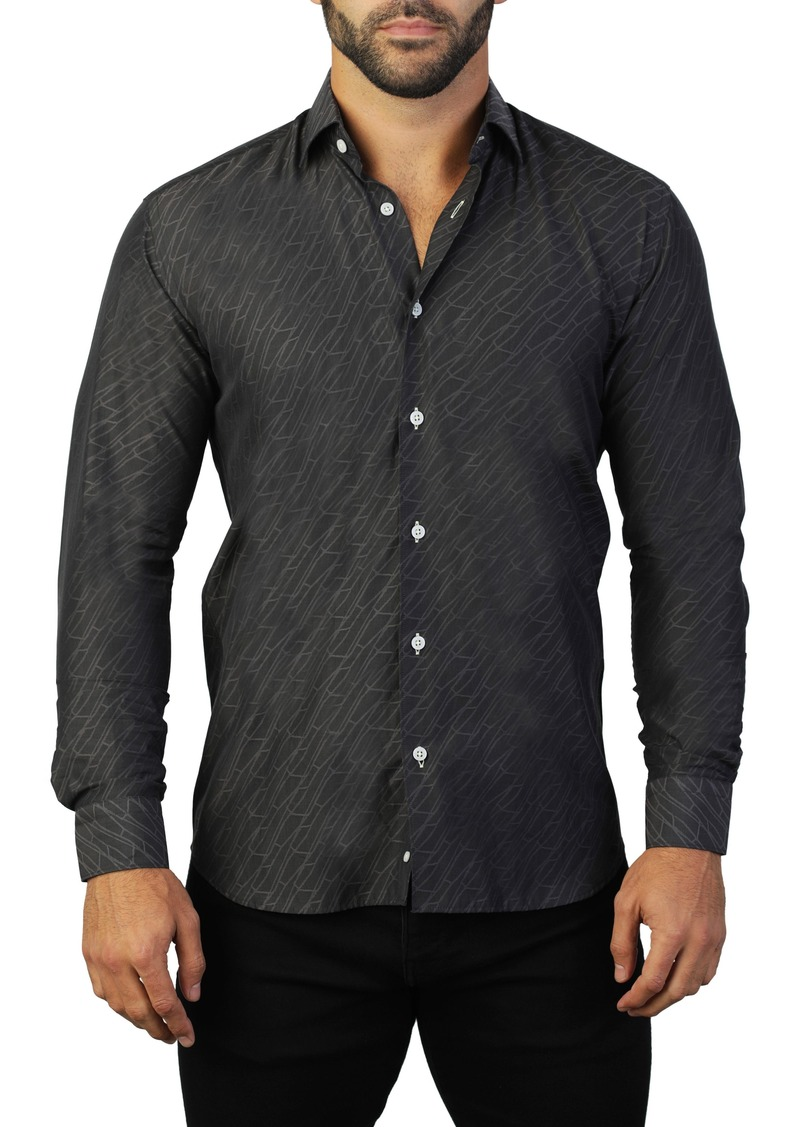 Maceoo Fibonacci Path Regular Fit Cotton Shirt