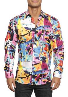 Maceoo Fibonacci Picasso Multi Button-Up Shirt