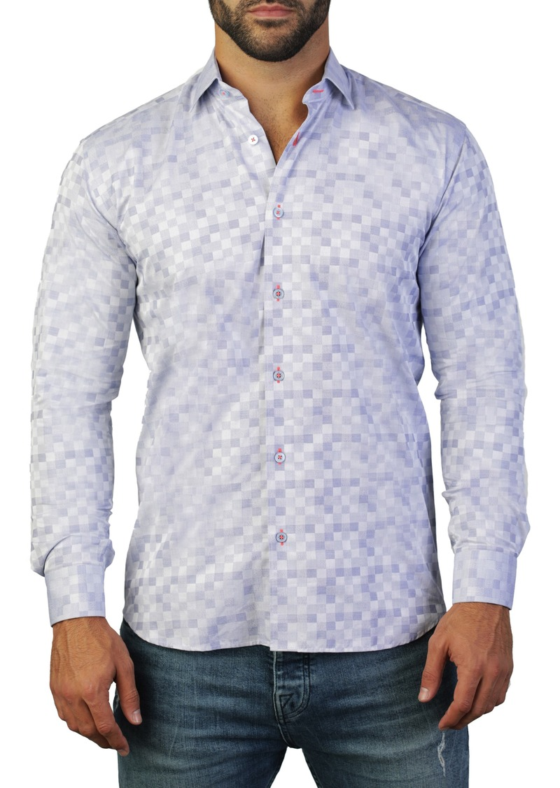 Maceoo Fibonacci Regular Fit Cotton Shirt