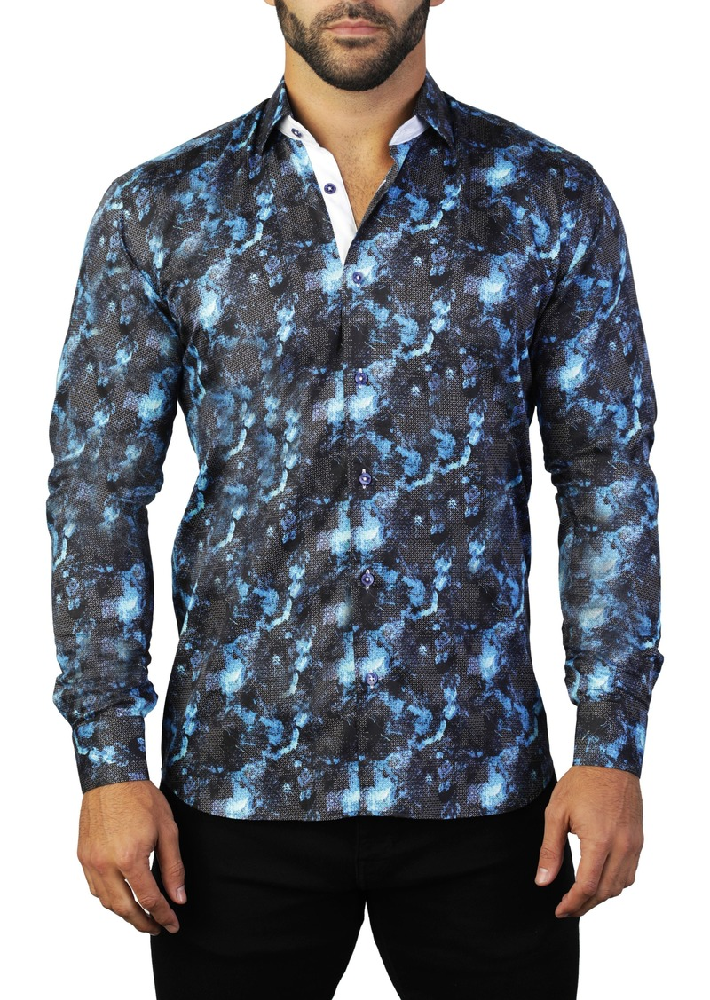 Maceoo Fibonacci Space Regular Fit Shirt