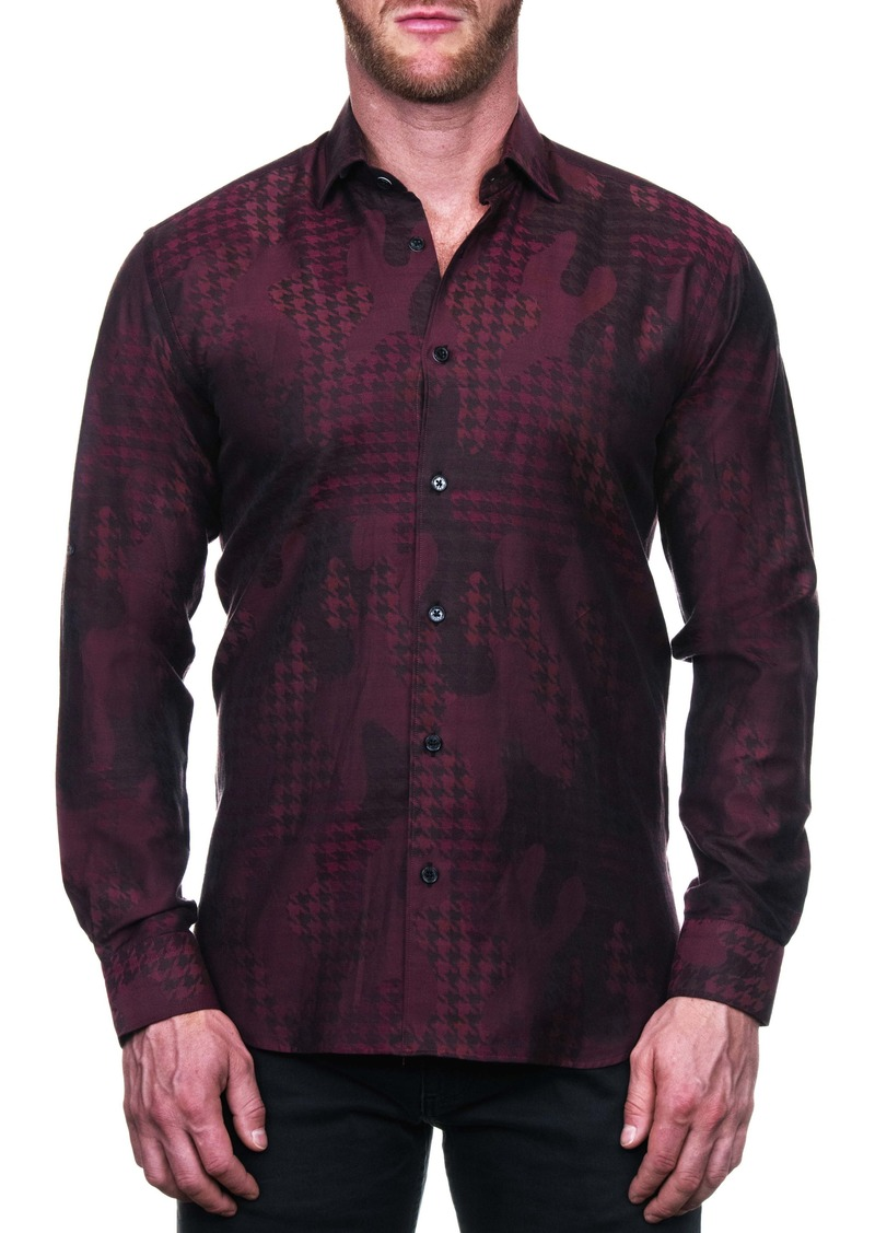 Maceoo Fibonacci Star Red Regular Fit Button-Up Shirt