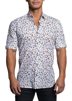 Maceoo Galileo at the Beach Short Sleeve Button-Up Shirt