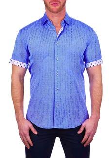 Maceoo Galileo Broken Line Short Sleeve Button-Up Shirt