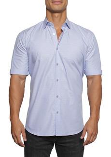 Maceoo Galileo Dot Regular Fit Short Sleeve Button-Up Shirt