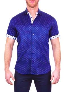 Maceoo Galileo Line Short Sleeve Button-Up Shirt