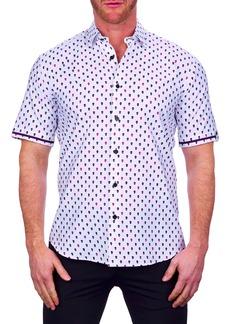 Maceoo Galileo Multiskull Short Sleeve Button-Up Shirt