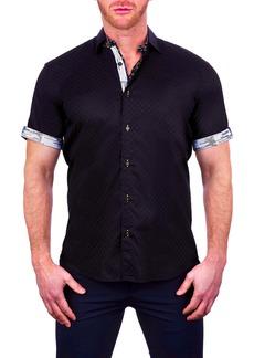 Maceoo Galileo Pepper Short Sleeve Button-Up Shirt