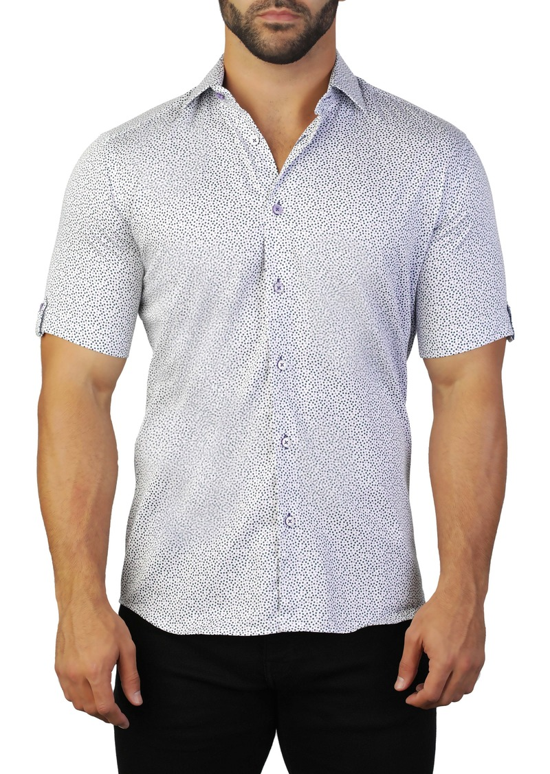Maceoo Galileo Regular Fit Castle Print Shirt