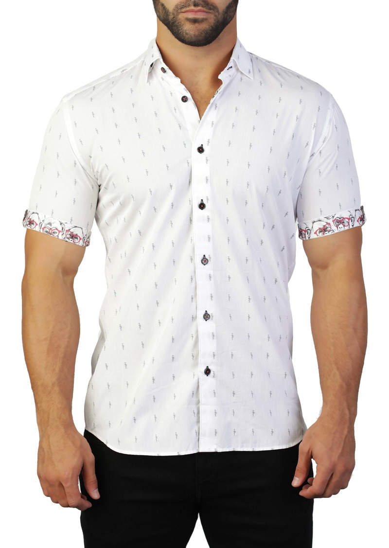 Maceoo Galileo Regular Fit Flamingo Shirt