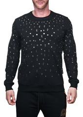 Maceoo Metallic Graphic Sweater