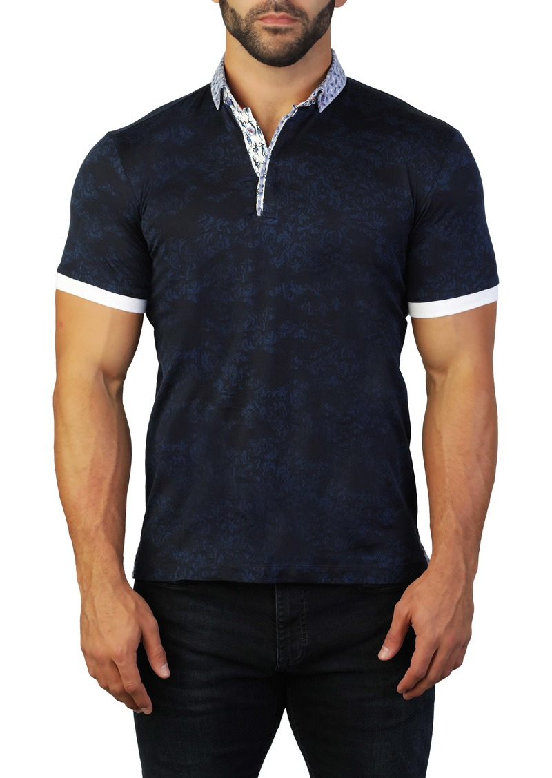 Maceoo Mozart Intrigued Blue Regular Fit Polo