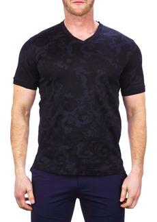 Maceoo Vivaldibat Black V-Neck T-Shirt