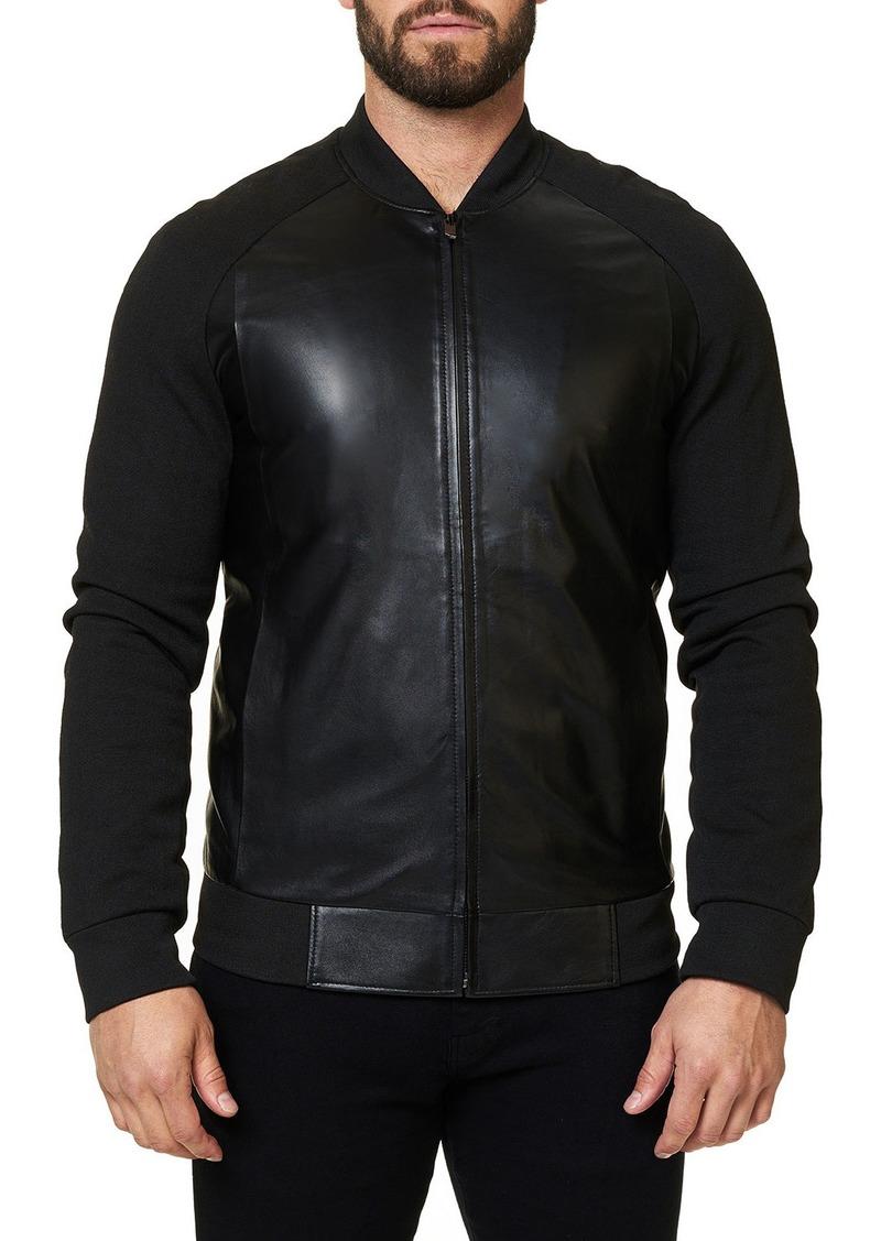 Maceoo Men's Double Leather Jacket