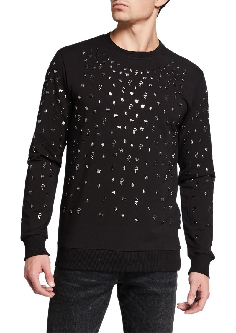 Maceoo Men's Skull Embellished Sweater