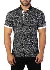 Maceoo Mozart Matrix Tailored Fit Polo