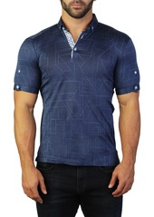 Maceoo Mozart Prizma Geometric Tailored Fit Polo
