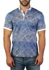 Maceoo Mozart Scribble Tailored Fit Polo