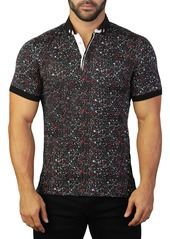 Maceoo Mozart Splatter Tailored Fit Polo