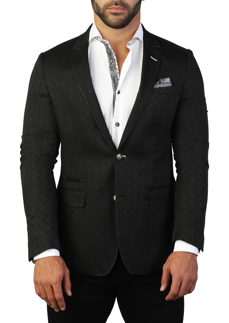 Maceoo Socrate Rebuilt Two Button Tailored Fit Suit Separate Blazer