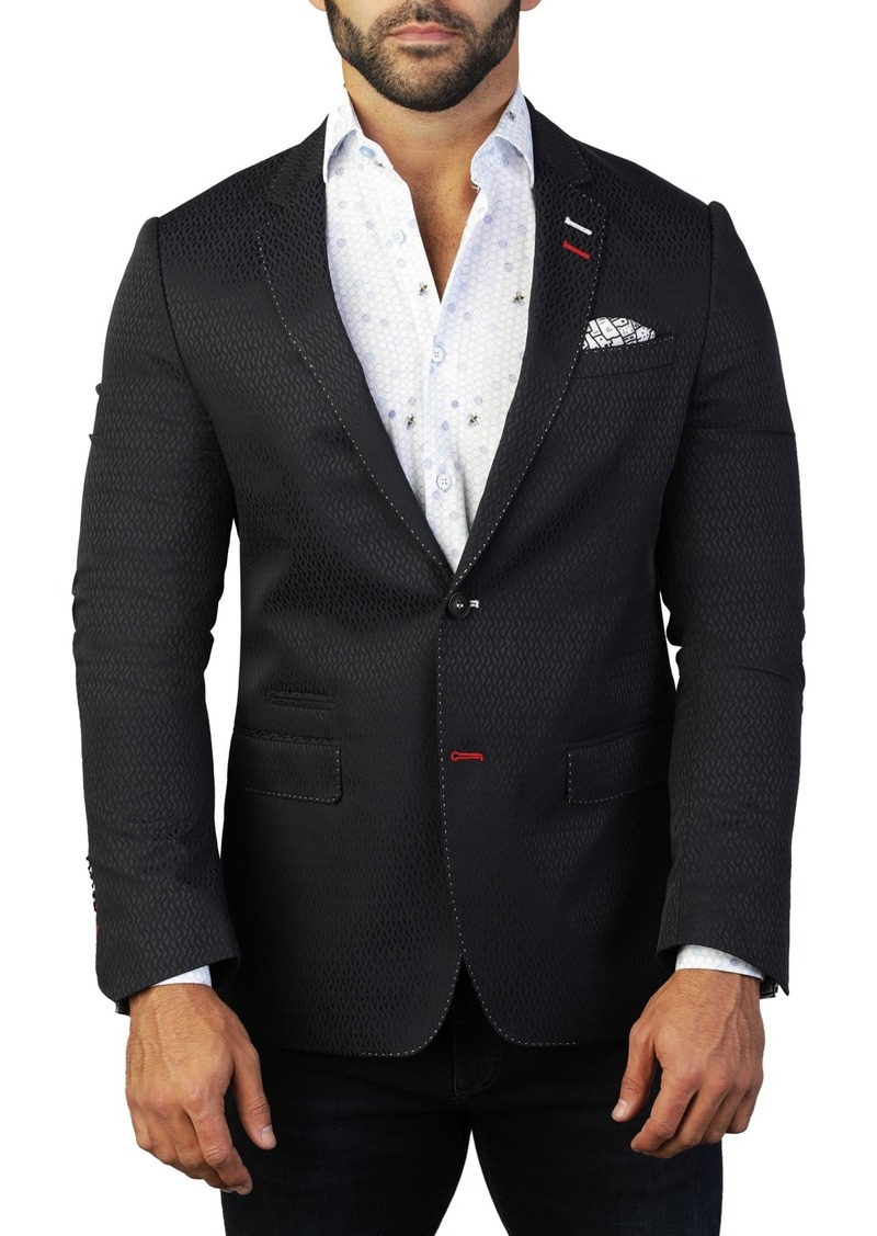 Maceoo Socrate Waves Two Button Tailored Fit Suit Separate Blazer