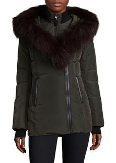Mackage Adali Fur Trim Hooded Down Jacket