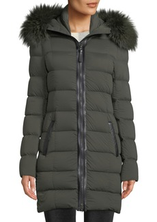 Mackage Calla Hooded Puffer Coat w/ Fur Trim