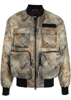Mackage camouflage cargo-pocket bomber jacket