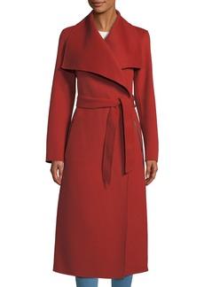 Mackage Double-Face Wool Trench Coat w/ Belt