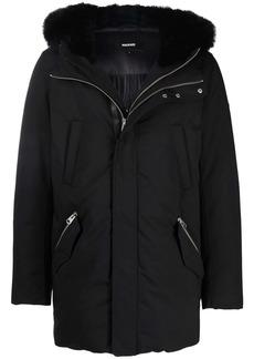 Mackage Edward logo-print faux fur-trim padded jacket