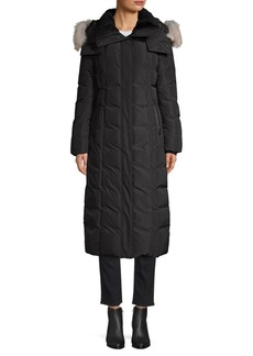 Mackage Jada Fur-Trim Long Down Coat