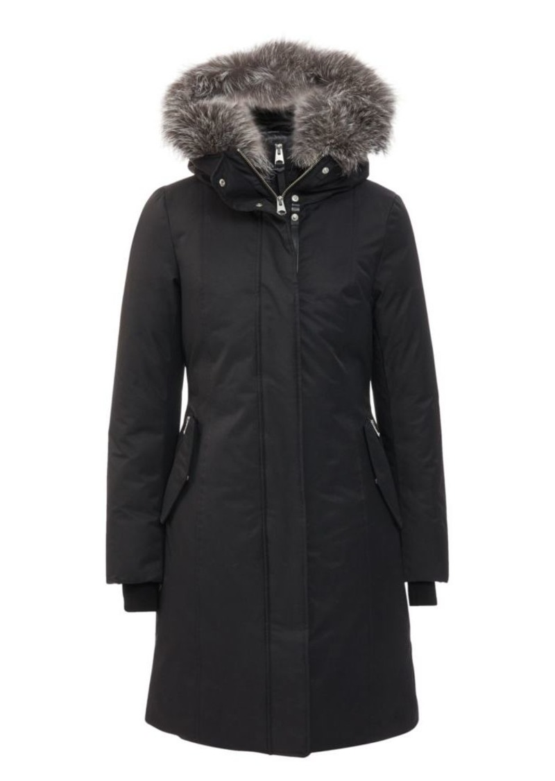 Mackage Harlowe Coyote Fur-Trim Hooded Down Coat