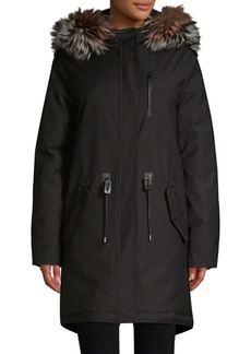 Mackage Hooded Fur Coat