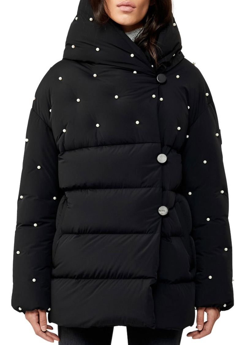 Mackage Hooded Wrap-Front Down Jacket