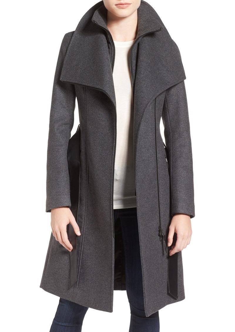 Mackage Nori Belted Wool Blend Coat
