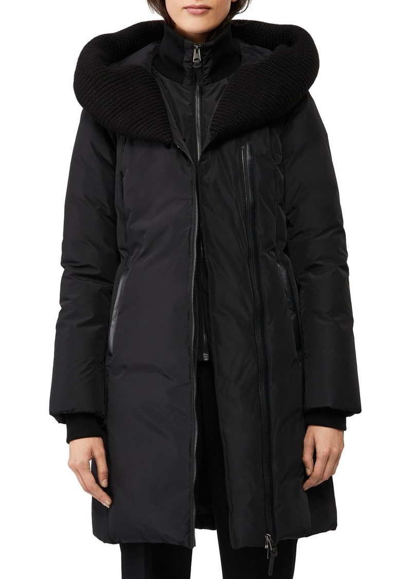 Mackage Brigid Knit Trim Down Coat