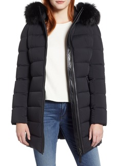 Mackage Calla Genuine Fox Fur Trim Hooded Down Coat