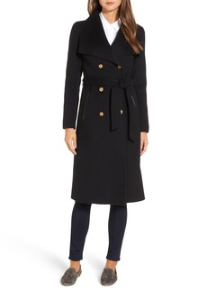 Mackage Double Breasted Wool Blend Long Military Coat